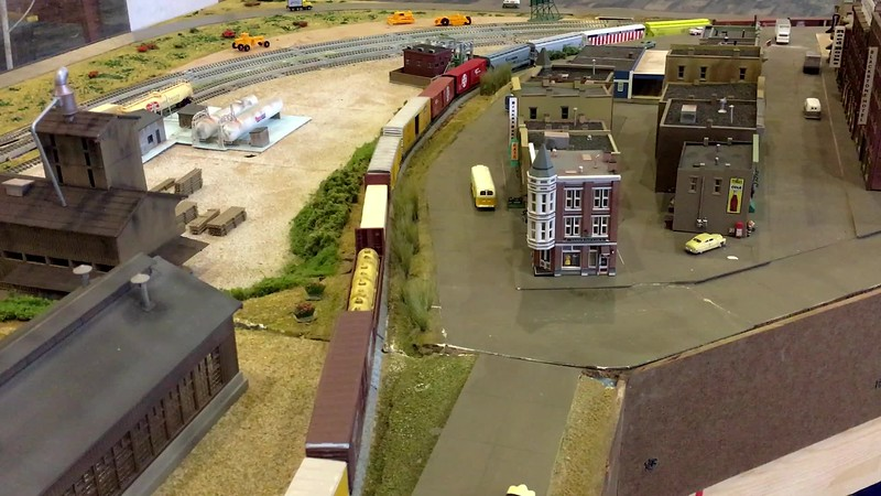 UP mixed freight climbs the hill