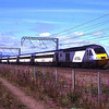 HST with power cars 43306 and 43296 on the rear pass Prestonpans with 07:52 Aberdeen to Kings Cross service 23/7/2011