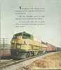 Ontario Northland Railway and Boat Lines. Time table October 28, 1956. Back cover. Photograph of freight train.
