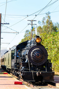 The steam engine only runs one weekend a month.