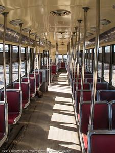 Interior of restored PCC Trolley #4607