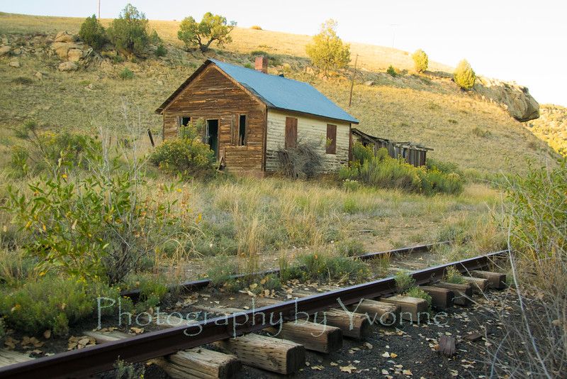 Building at the old Gato Station, Colorado