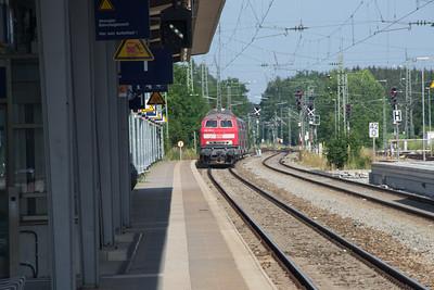 218-415 approaches Geltendorf from Munich 03-07-2015
