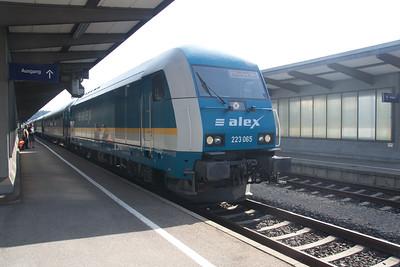 223-065 ready to depart Kempten for Munich Hbf  04 Jul 2015