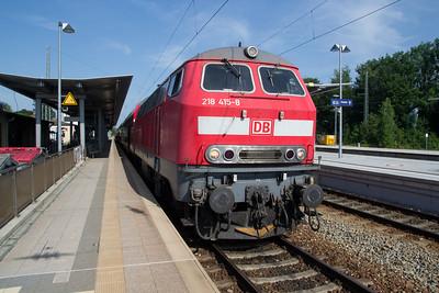 Diesel Hydraulic 218-415 at Geltendorf with a service from Munich