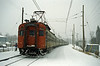 2nd January 1989. In a heavy snow storm one of the CN MU cars about to leave Deux Montagne for Montreal Central. No wrong sort of snow out here!