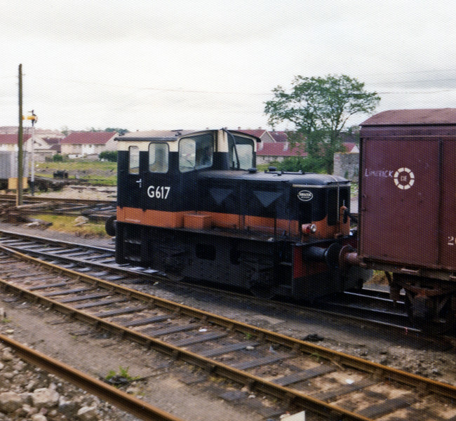 One of CIE's Deutz-built shunting tractors, G617 at Limerick