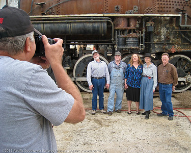 I don't take all the pictures...  Frank Denison shooting Walt Richards, Ron Hyatt, Diana Hyatt, Paula Stone and Mike Craig