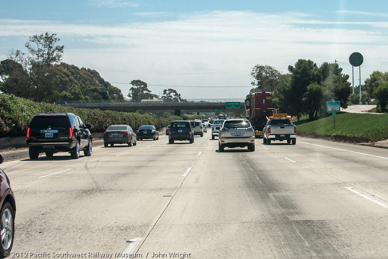 On the road!  Southbound on I-5 from Oceanside