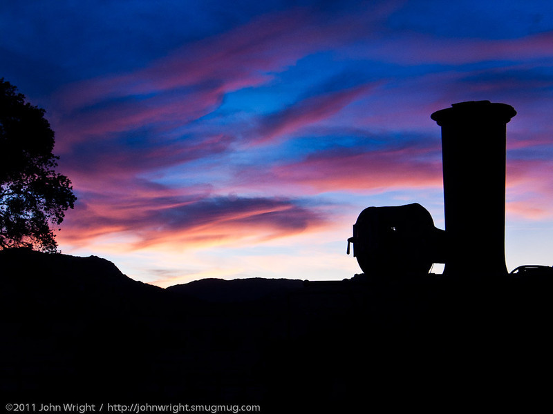 Sunset in Campo, October 29, 2011