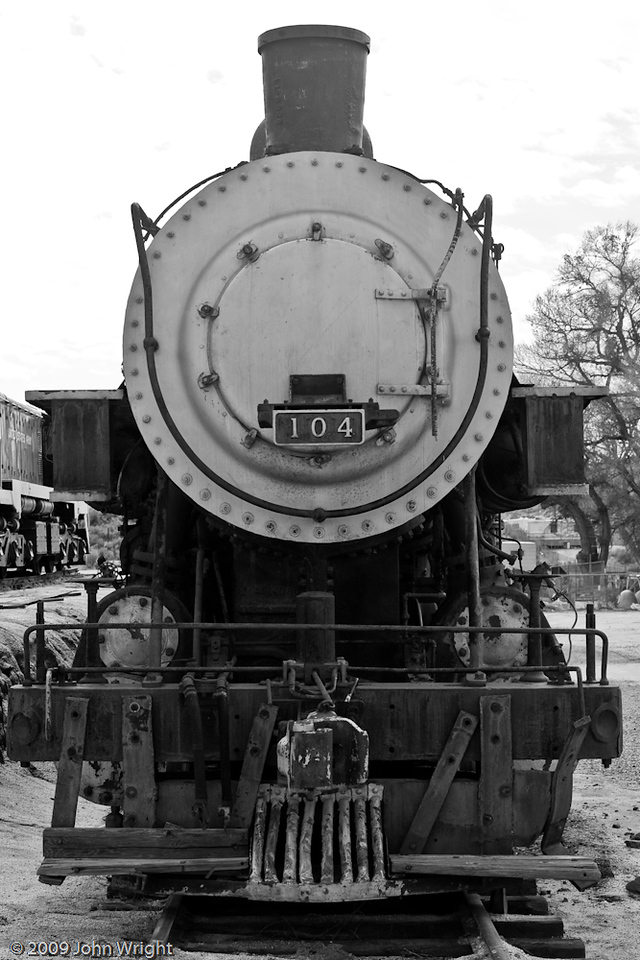 San Diego & Arizona 104 2-8-0 Consolidation road engine, built by Baldwin Locomotove Works in 1904.