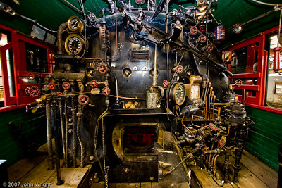 Cab of SOUTHERN PACIFIC COMPANY #2353 Steam Locomotive