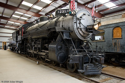 SOUTHERN PACIFIC COMPANY #2353 Steam Locomotive, a 4-6-0 Baldwin with an ALCO boiler.