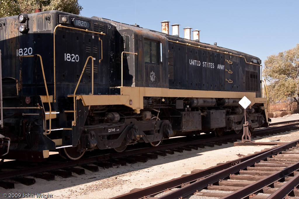 US Army 1820, an EMD MRS-1