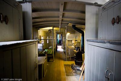 Interior of ATCHISON, TOPEKA, & SANTA FE RAILWAY #1413 caboose