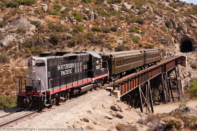 Golden State train crossing the Campo Creek Bridge