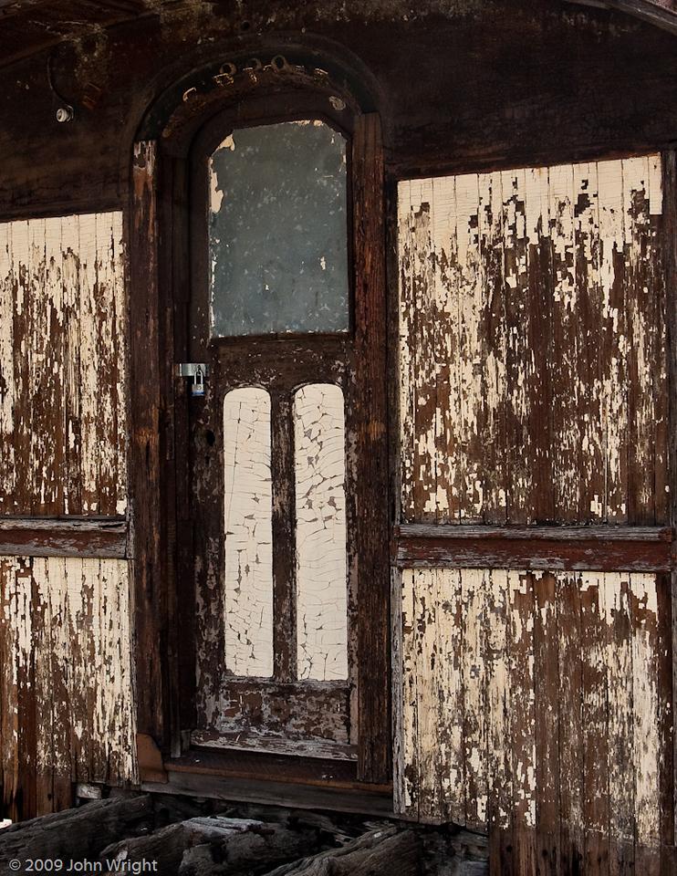 Wooden railcar
