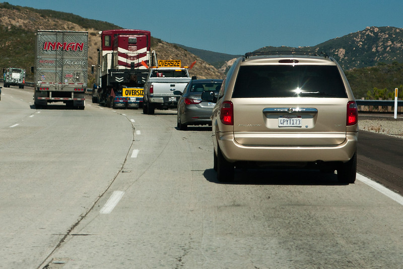 The convoy on I-8.