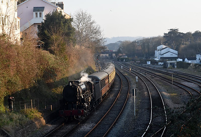 S160  5197 approaches Paignton with the 1610 Kingswear ~ Paignton Queens Park