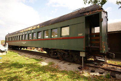 Frisco coach car located in Drumright, OK