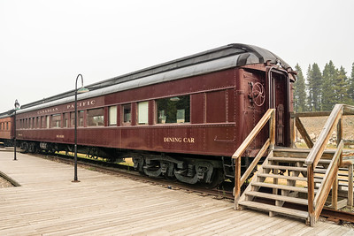 Canadian Pacific dining cars in Lake Louise, AB.