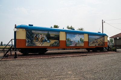 Baggage car from Montana Centennial Train located in Hardin, MT.