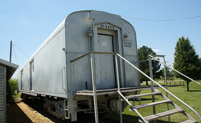 Former Rock Island baggage car used as museum in Herrington, KS