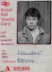A blast from the past...A young 'Kevin Williams' posing for the BR Identity card.1979.