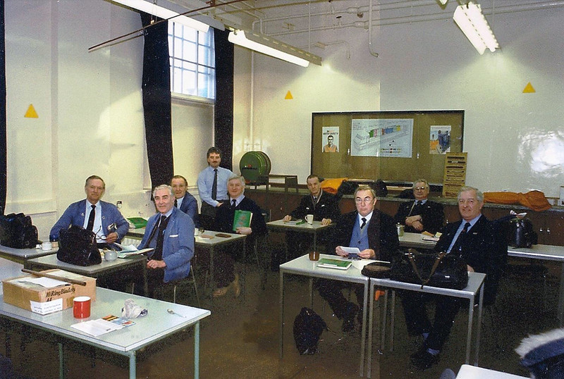 Wonder why the teacher Mr.Watts has a stick on his desk?.Doncaster and Leeds drivers get to grips with the theory aspects of the class 91s.Image Courtesy of Karl Watts.