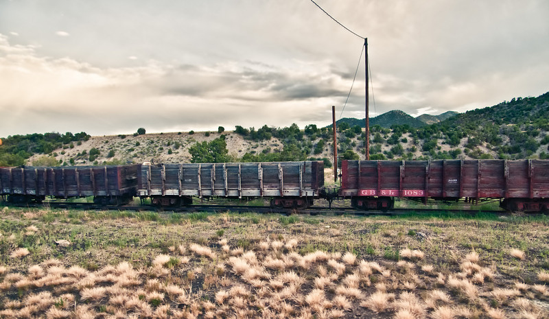 Rail cars from years past, put in their work along the Royal Gorge, near Canon City, Colorado.