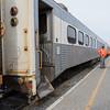 Polar Bear Express passenger consist at Moosonee station.