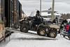 Unloading an ATV from the Polar Bear Express.