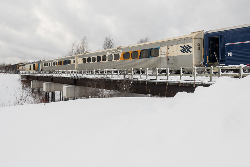 Snack car 701 in the consist of the Polar Bear Express.