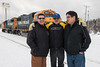James MacDonald, Charlie Cheechoo and Les Jolly blocking my shot of GP38-2s 1804 and 1806.