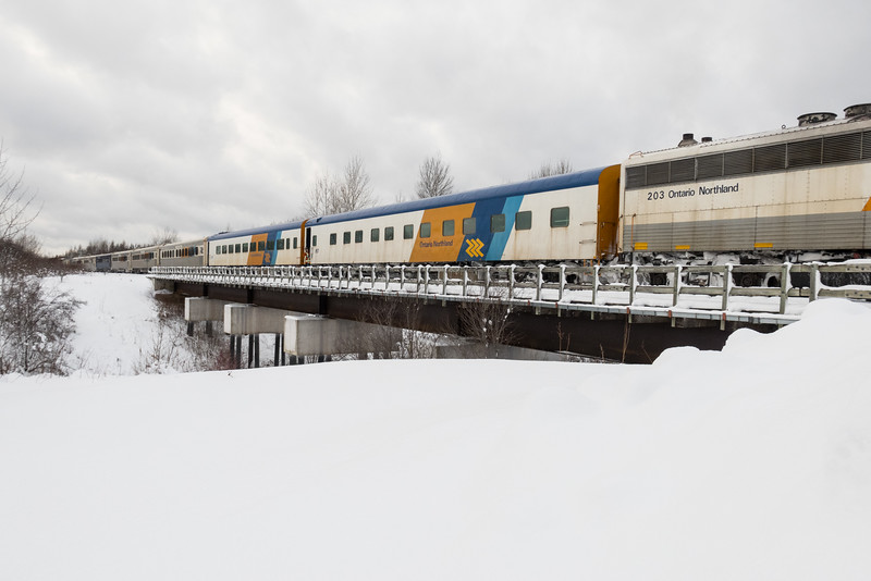 APU 203 in the consist of the Polar Bear Express.