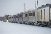 Seven coaches, snack car, baggage, two auxiliary power units, three boxes with GP38-2 1802 and 1808.