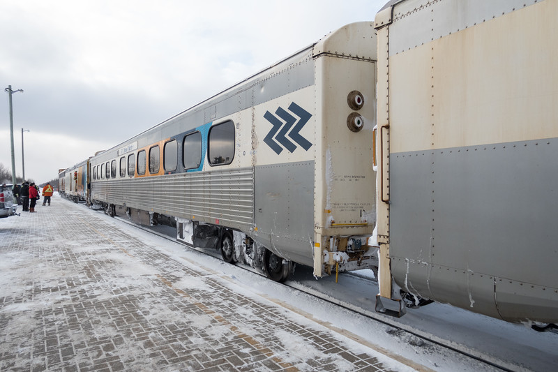 Special Saturday edition of the Polar Bear Express arriving in Moosonee 2017 December 23rd.