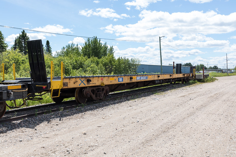 ONT 100507, newly converted vehicle carrier for the Polar Bear Express. Flatcar.