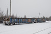 Gondolas ONT 5050 and ONT 5019 in Moosonee.