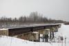 Railway bridge over Store Creek in Moosonee.