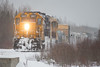 GP38-2 1801 leads the Polar Bear Express towards Moosonee.