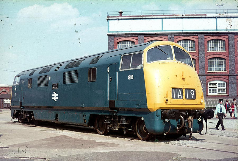 D818 Swindon Works 18th Aug 1976