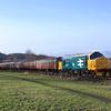 37401 is seen working the 10.58hrs Manuel - Bo'ness approaching Kinneil Halt.29/12/2013
