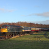 56312 + 47643 hit the shadows on the 10.30hrs Bo'ness - Manuel seen shortly after leaving Kinneil Halt .<br /> 29/12/2013