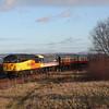 56105 + 47643 for breaking, skirt the Forth estuary on the 11.30hrs Bo'ness - Manuel seen approaching Kinneil halt.<br /> 29/12/2013