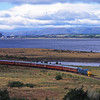 25235 skirts the Firth of Forth  on a Birkhill - Bo'ness service, <br /> 24 /9/1995