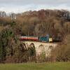 55022 crosses the river Avon between Birkhill & Manuel on the 13.30hrs Bo'ness - Manuel service.<br /> 29/12/2013