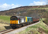 20031 + 20020 on the climb to Oakworth station	on the 13.47hrs Keighley - Oxenhope service.	26/04/2013