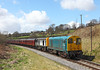 20020 + 20031 on the 12.50hrs Oxenhope - Keighley seen shortly after departure from Oakworth		<br /> 26/04/2013