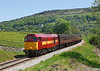 31466 on the 12.55hrs Keighley - Oxenhope climbs the bank upto Oakworth station		<br /> 25/05/2012